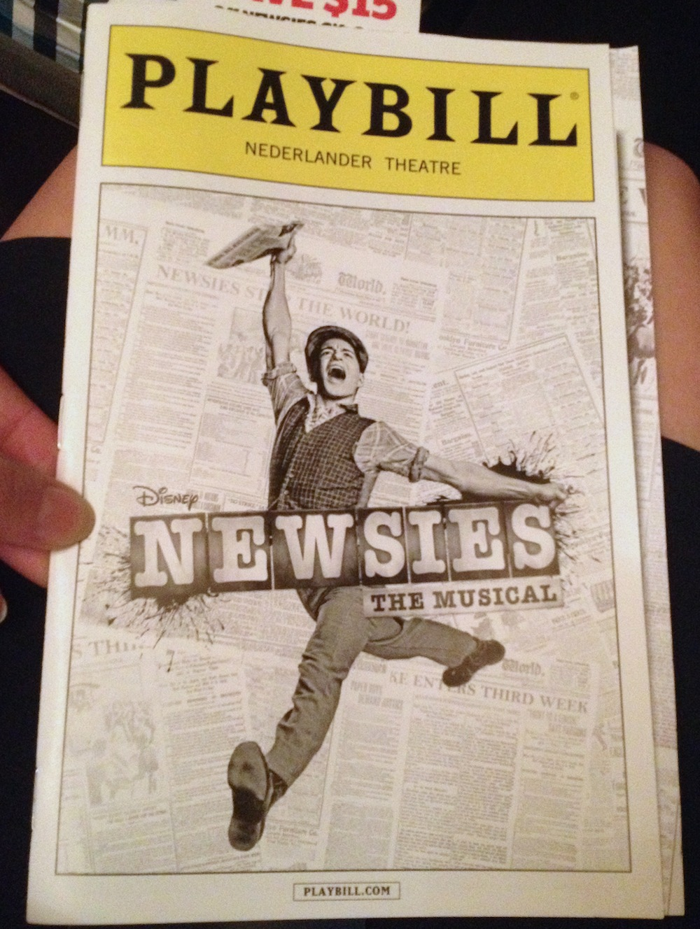 Newsies playbill