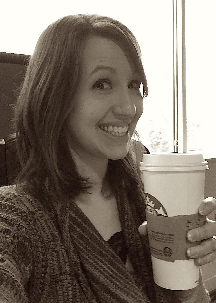 Halee with coffee