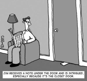 Writer Note cartoon