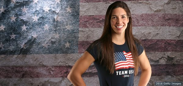 BEVERLY HILLS, CA - MARCH 08: Swimmer Maya DiRado poses for a portrait at the 2016 Team USA Media Summit at The Beverly Hilton Hotel on March 8, 2016 in Beverly Hills, California. (Photo by Sean M. Haffey/Getty Images)