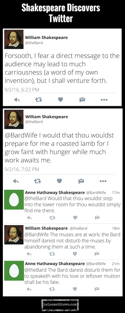 Shakespeare Discovers Twitter